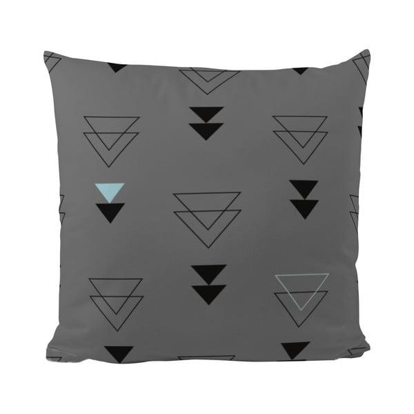 Vankúš Triangles in Grey, 50x50 cm