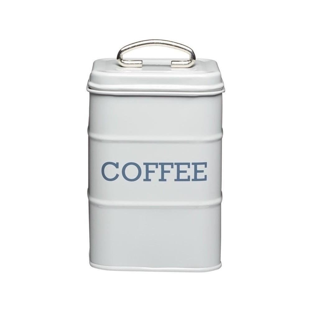 Sivá plechová dóza na kávu Kitchen Craft Nostalgia, výška 17 cm