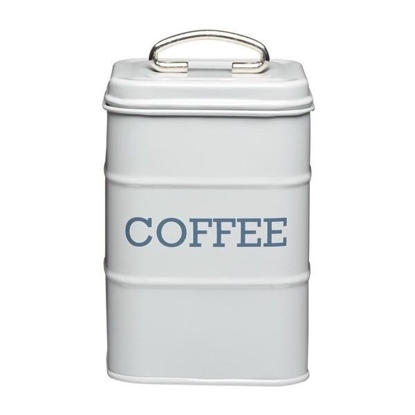Plechová dóza na kávu Kitchencraft  Nostalgia, svetlosivá
