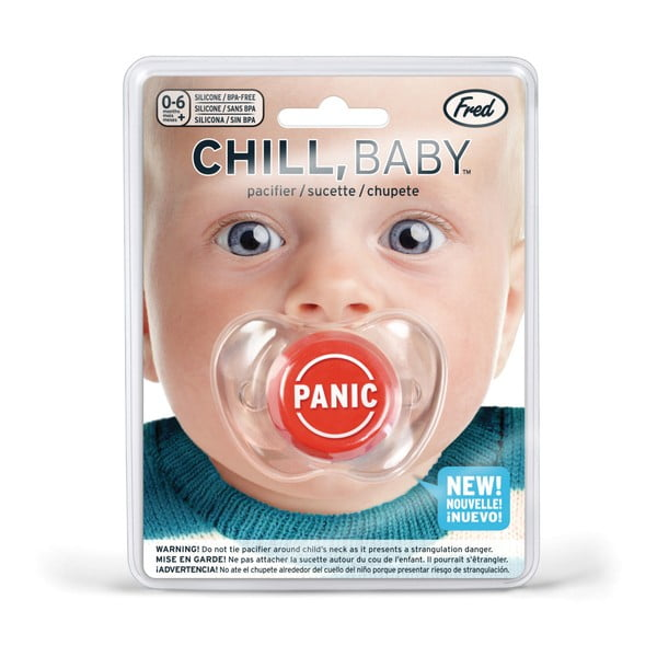 Detský cumlík Fred & Friends Chill Baby Panic button