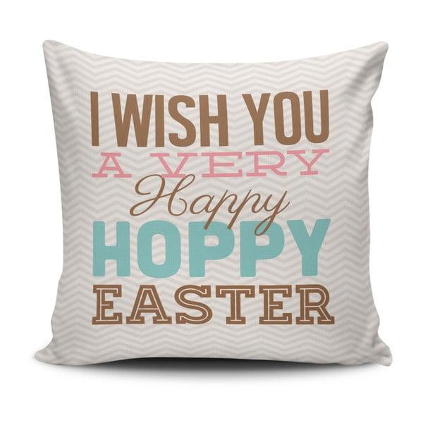 Obliečka na vankúš Happy Easter, 45 × 45 cm