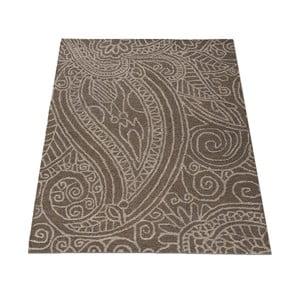 Vlnený koberec Mendhi 120 x 170 cm, sivý