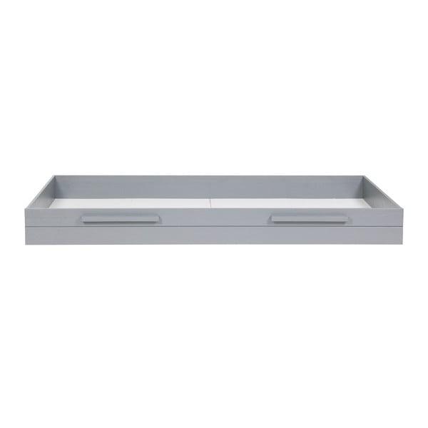 Sivá spodná zásuvka na posteľ DeEekhoorn Dennis, 90x200cm