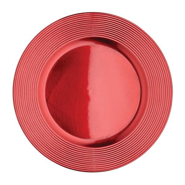 Červený tanier Kitchen Craft Robin