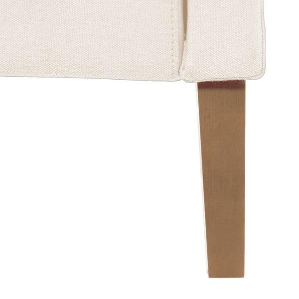 Krémová posteľ VIVONITA Windsor 160x200cm, prírodné nohy