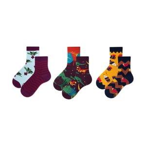 Sada 3 párov detských ponožiek v darčekovom balení Many Mornings Beetroots, veľ. 27–30