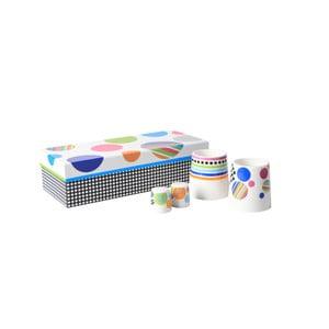 Raňajkový set z kostného porcelánu Silly Design Illusion