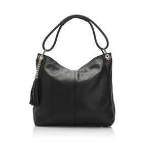 Čierna kožená kabelka Lisa Minardi Herta