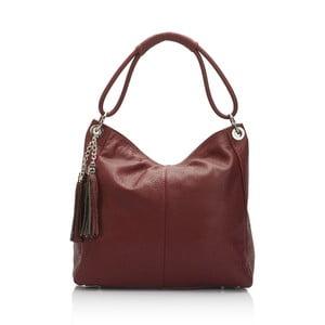 Bordó kožená kabelka Markese 5008 Bordo
