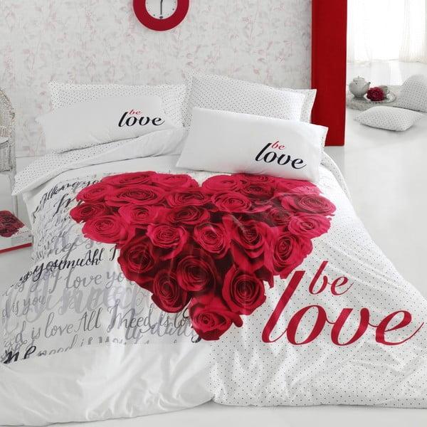 Bavlnené obliečky s plachtou Be Love, 200 x 220 cm