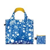 Skladacia nákupná taška skapsičkou LOQI Cornflower