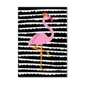 Plagát Striped Flamingo
