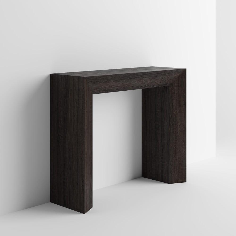 Konzolový stolík v dekore tmavého duba MobiliFiver Giuditta