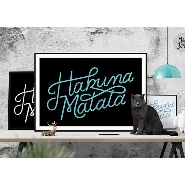 Plagát Hakuna Matata Black, A3