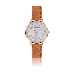 Dámske hodinky s koňakovohnedým remienkom z pravej kože Frederic Graff Rose Liskamm Lychee Ginger