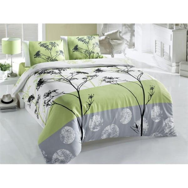 Zelené obliečky a plachta na dvojlôžko Blezza,200x220cm