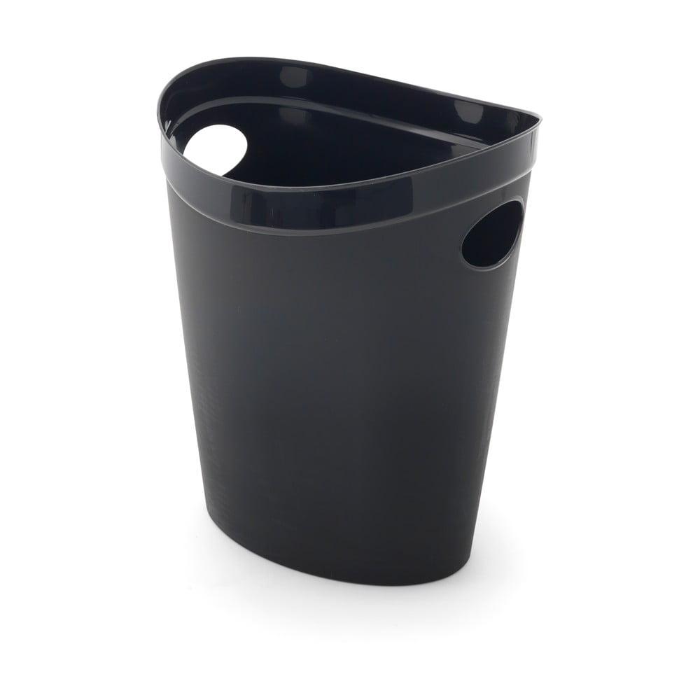 Čierny odpadkový kôš na papier Addis Flexi, 27 x 26 x 34 cm