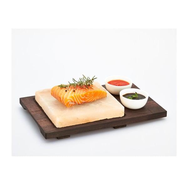 Servírovací podnos so soľnou doskou a miskami Salt Plate, 38x27 cm