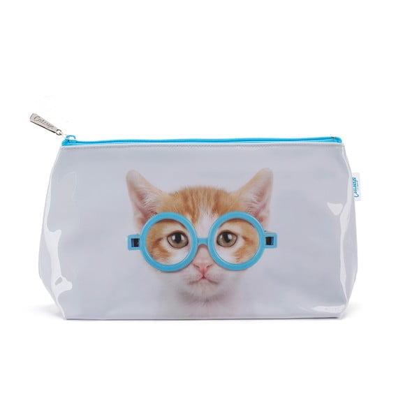 Toaletná taška Glasses Cat