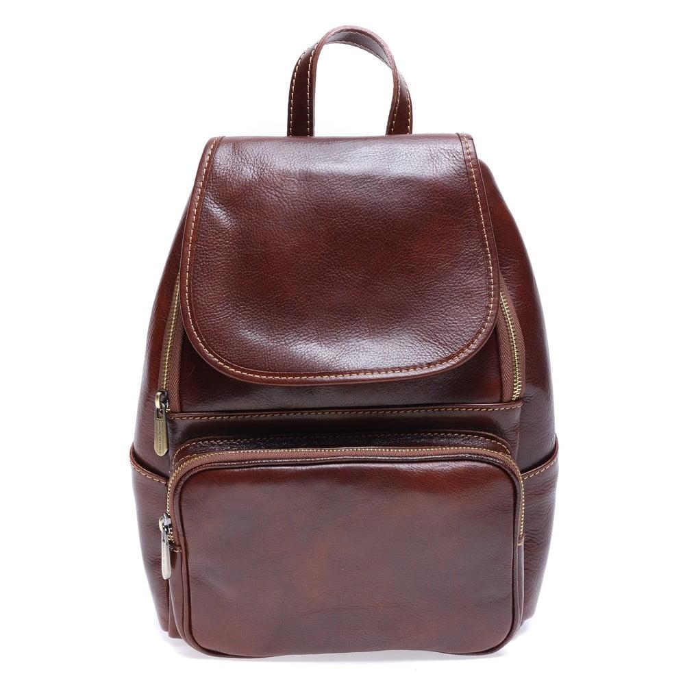 Hnedý kožený batoh Roberta M Francesca