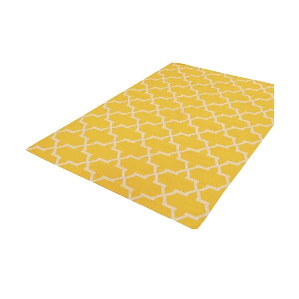 Ručne tkaný koberec Kilim Design One Yellow, 160x230 cm