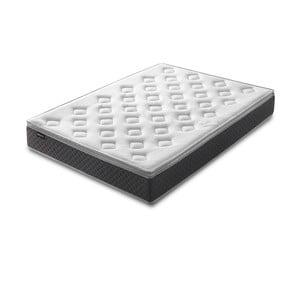 Biely matrac so sivým okrajom Bobochic Paris Fraicheur, 160 x 200 cm