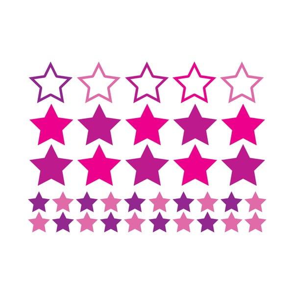 Sada 35 samolepiek Ambiance Pin Stars