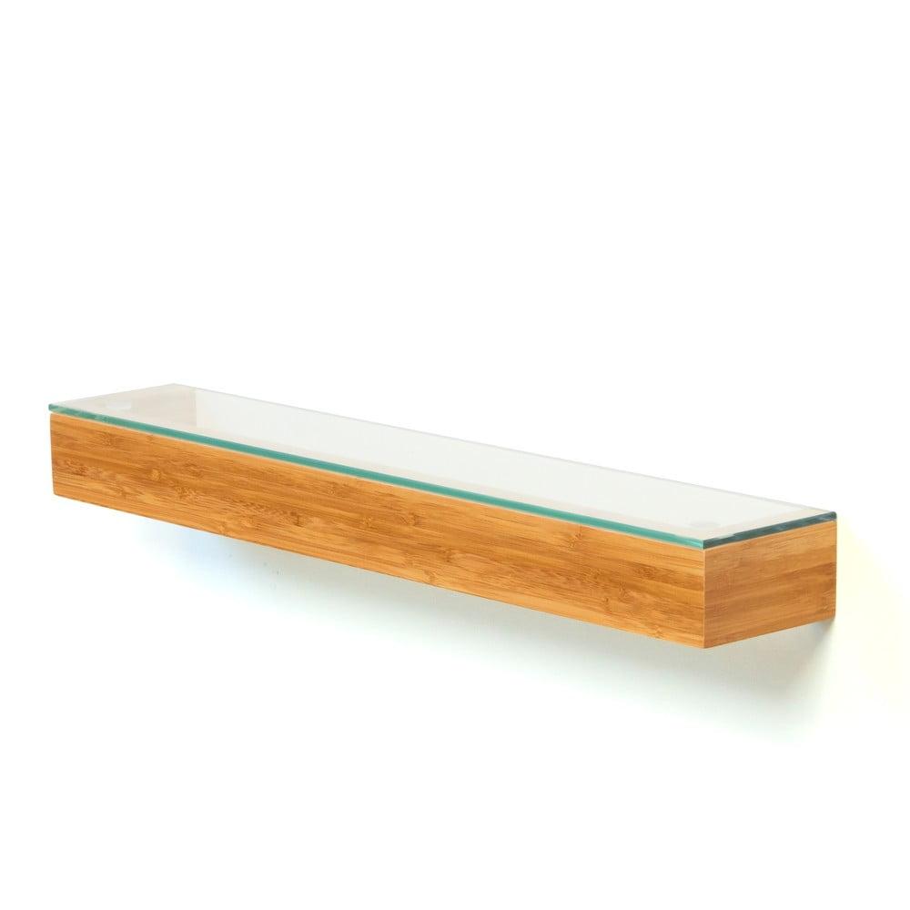 Bambusová polička do kúpeľne Bamboo Wireworks, dĺžka 55 cm