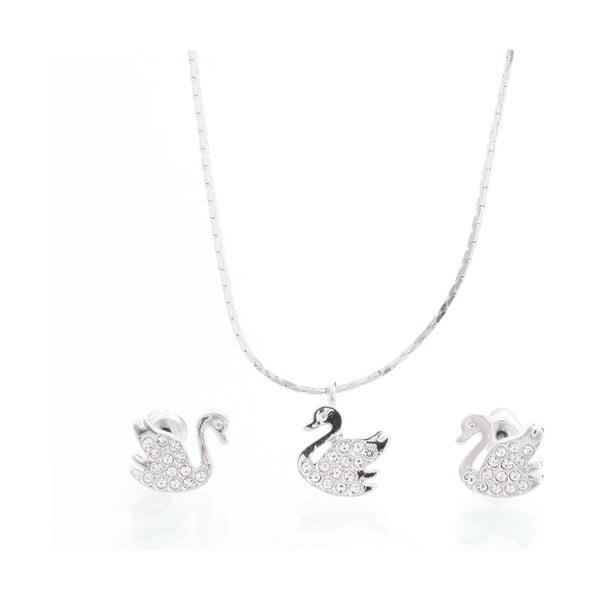 Set náhrdelníka a náušníc Laura Bruni Clear Swan