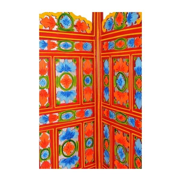 Paraván Orient 204x181 cm, oranžový