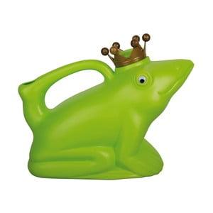 Zelená plastová konvička v tvare žaby Ego Dekor