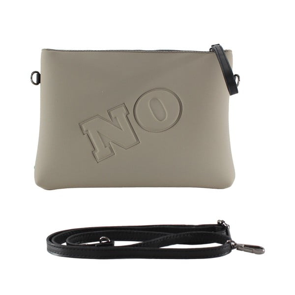 Neoprénová listová kabelka Yes/No, šedé