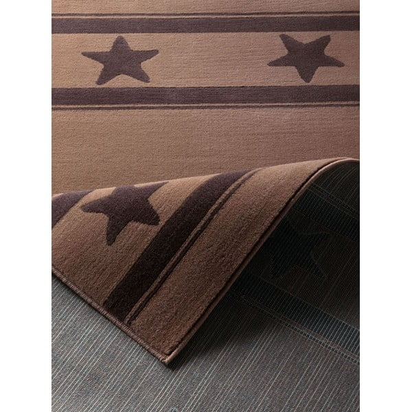 Detský hnedý koberec Hanse Home Hviezda, 140×200cm