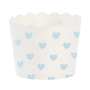 Papierové košíčky na muffiny Miss Étoile Blue Heart, 24 ks