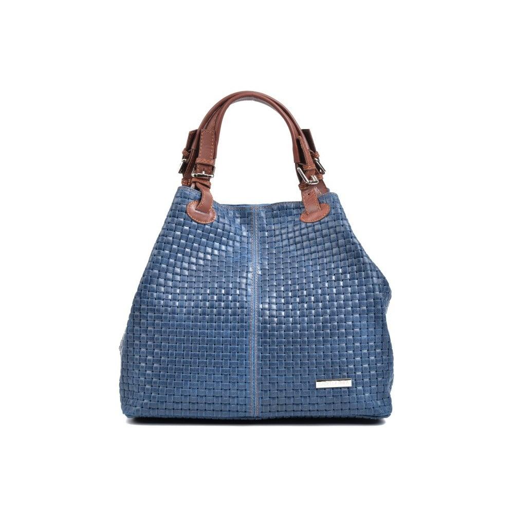 9147596c65 Modrá kožená kabelka Isabella Rhea Renna