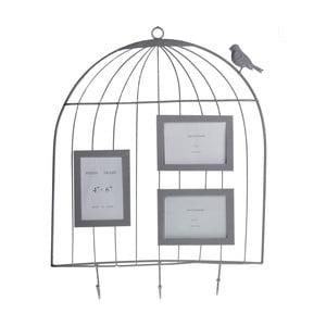 Závesná dekorácia s fotorámikmi Vtáčik v klietke