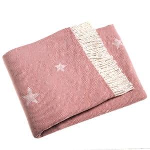 Ružová deka Euromant Stars, 140x180cm