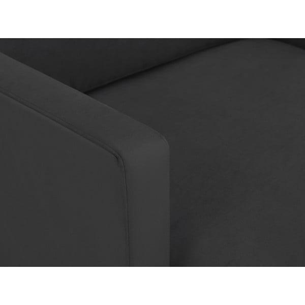 Tmavosivé kreslo s podnožou v zlatej farbe Windsor & Co Sofas Jupiter