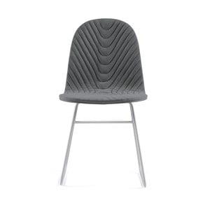 Tmavosivá stolička s kovovými nohami IKER Mannequin V Wave