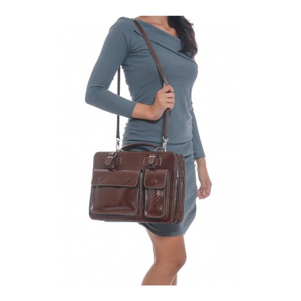 Hnedá kožená kabelka Isabella Rhea no. 305