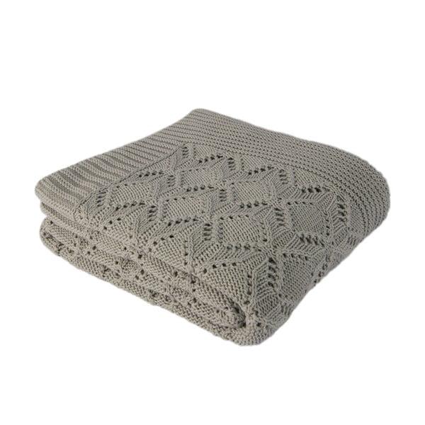 Mentolovomodrá bavlnená deka Cotton, 170×130cm