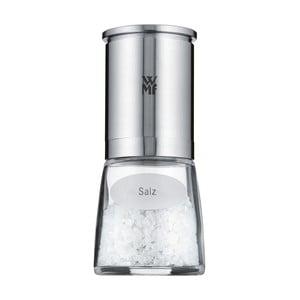 Elektrický mlynček na soľ z antikoro ocele WMF Cromargan® Delu×e, výška 14 cm