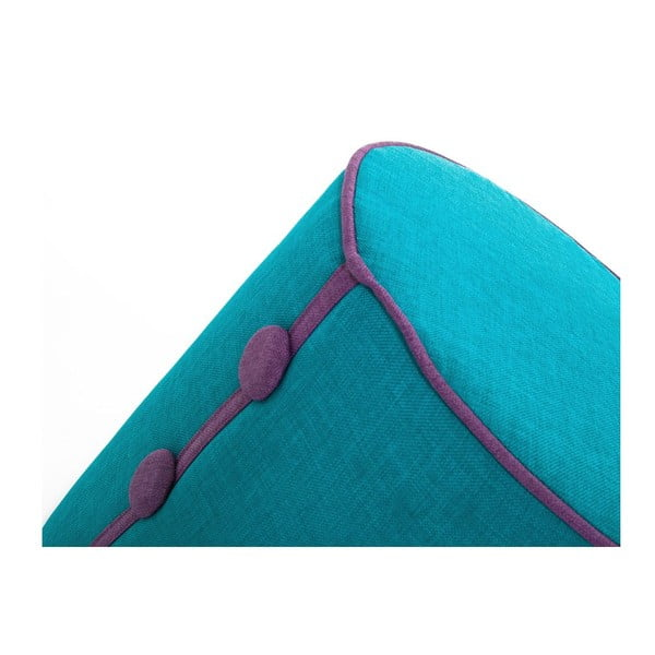 Puf Dots Turquoise/Purple
