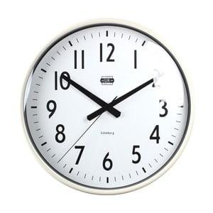 Krémové nástenné hodiny Strömshaga, Ø40 cm