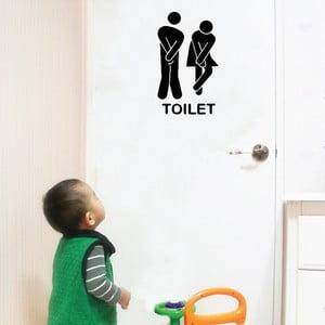Dekoratívna samolepka Toilet, 13x18 cm