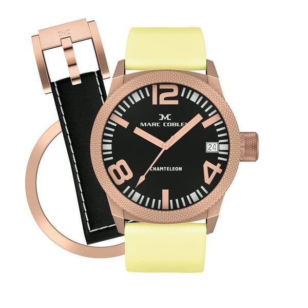 Dámske  hodinky Marc Coblen s remienkom a krúžkom na ciferník naviac P117