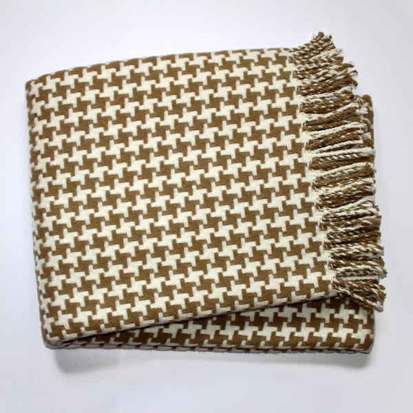 Béžová deka Euromant Pearls, 140x180cm