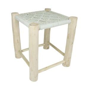 Mentolovozelená drevená stolička HF Living, 40 × 40 cm