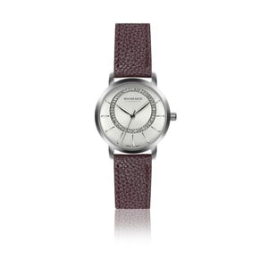 Dámske hodinky s vínovým remienkom z pravej kože Walter Bach Union