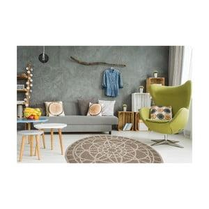 Vysokoodolný koberec vhodný do exteriéru Floorita Tondo Mink, ⌀194 cm